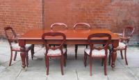 Victorian style dining table with 6 chairs