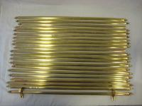 Set of 21 brass stair rods with clips
