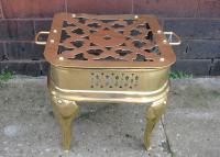 Victorian brass kettle stool