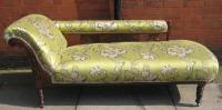 Edwardian mahogany chaise longue