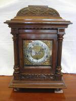 Victorian walnut bracket clock