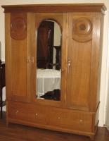 1930s Oak Triple Wardrobe