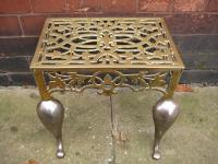 Brass Footmans Fire Kettle Stool