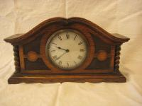 Edwardian Oak Mantle Clock