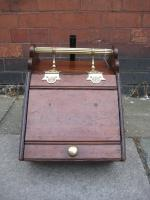 Oak and Brass Coal Scuttle
