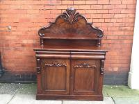 Victorian Mahogany Two Door Chiffonier