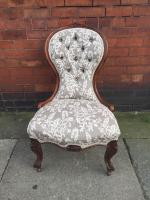 Victorian Ladies Walnut Armchair C1870