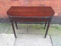 Mahogany Fold Over Table C1820
