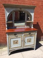 Antique Mahogany Painted Distressed Sideboard