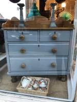 Pine Antique Painted Chest of Drawers