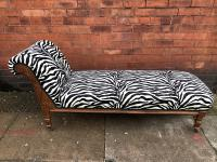 Chaise Longues Zebra Fabric