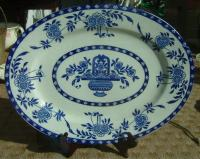 Large blue and white Delft platter