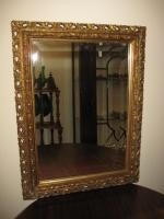 Wooden gilded wall mirror