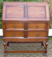 Oak writing bureau