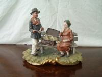 Capodimonte Italian figure group
